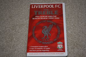 Liverpool FC - 'The Treble' - 2000-2001 Season Review - VHS video for Sale for sale  West Windsor Township, NJ