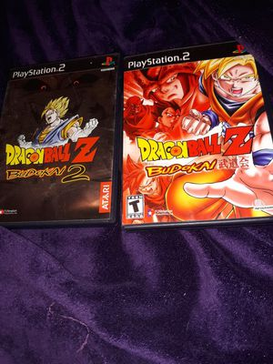 DragonBall Z Budokai 1 and 2 -Playstation 2 for Sale in Temple, GA