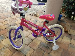 Girls bicycle bike and helmet for Sale in Southwest Ranches, FL
