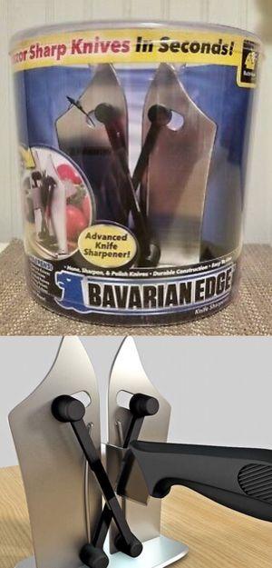 NEW As Seen On TV Bavarian Edge Kitchen Knife Sharpener Sharpens Hones Polishes Serrated Beveled Standard Blades for Sale in Whittier, CA