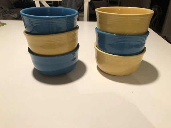 6 Fiestaware 28 oz Bowls