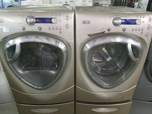 GE Profile Washer and Dryer ser with pedestals $800-$950 for Sale in La Puente, CA