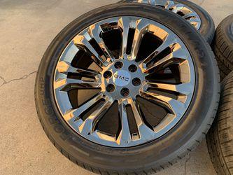 "22"" GMC Sierra Yukon Denali Cadillac Escalade 6x5.5 Wheels Tires Rims for Sale in Rio Linda,  CA"