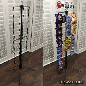 """NEW Metal Floor-Standing Chip/Snack/Merchandise Rotating 60 Clip Rack (55""""Tall)•$20ea or 2 x $30 for Sale in Pomona, CA"""