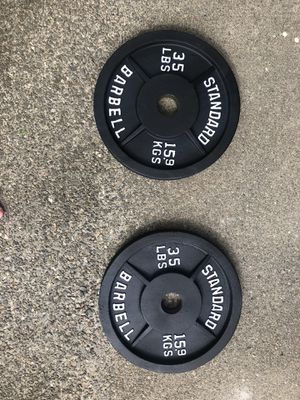 35 lb Standard Barbell Weight Plates for Sale in Lexington, MA