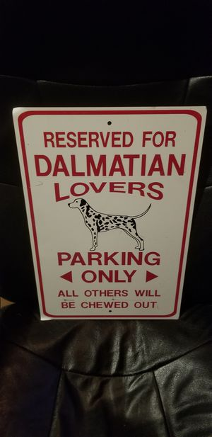 Metal dalmatian parking sign for Sale in Ankeny, IA