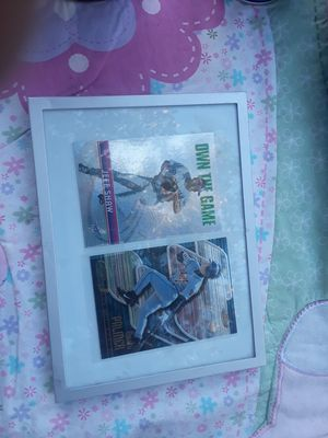 Picture frame 2 baseball cards $2 7 and 1/2 by 5 and 1/2 $2 for Sale in Stockton, CA