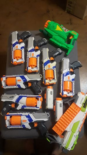 9 Nerf guns and camera for Sale in Tempe, AZ