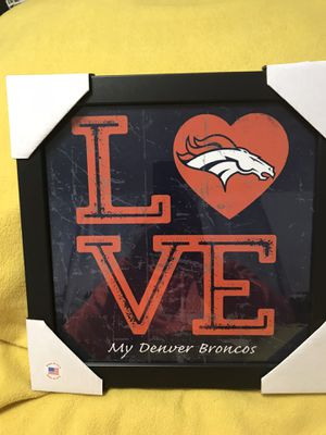 LOVE. My Denver Broncos Wall Hanging for Sale in Sioux Falls, SD