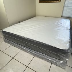 New Queen Mattress Boxspring FREE SAME DAY DELIVERY for Sale in Tampa,  FL