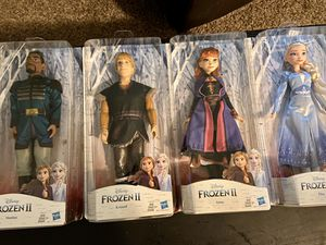 Frozen 2 character dolls for sale- all brand new! $40 for all of them or $12 each. for Sale in Anchorage, AK