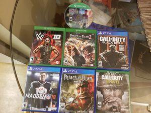 Games Xbox and PS4 for Sale in Reston, VA