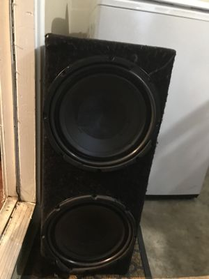 10' inch massive speakers with massive 1,000 watt amplifier for Sale in Austin, TX