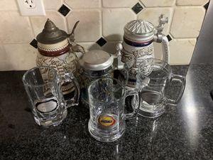 6 of beer mug all for $ 50 for Sale in Henderson, NV