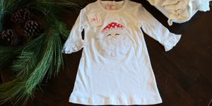 NWT Mud Pie girls size 12-18M tulle ruffled Santa tunic dress for Sale in Tacoma, WA
