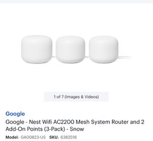 Nest WiFi 3 Pack (Basically Brand New) for Sale in Oak Lawn, IL
