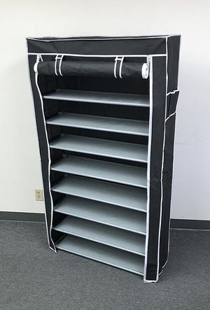 """(New in box) $25 each 10-Tiers 45 Shoe Rack Closet with Fabric Cover Storage Organizer Cabinet 36x12x62"""" for Sale in Whittier, CA"""