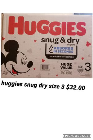 huggies size 3 for Sale in Los Angeles, CA