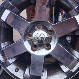 """( I Only Have 3 ) 20"""" CHROME RIMS For Dodge Ram for Sale in Richardson, TX"""