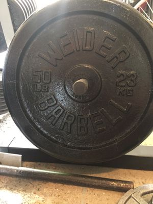 "WEIDER Barbell 50 lb Standard Weight Plates 1"" $200/pair for Sale in Medina, OH"