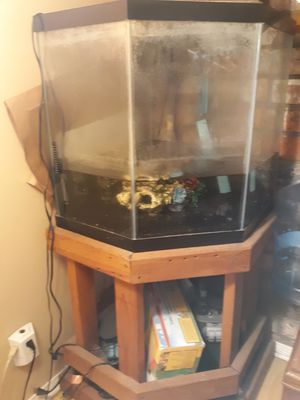 55 Gal Fish Tank and Supplies for Sale in La Verne, CA