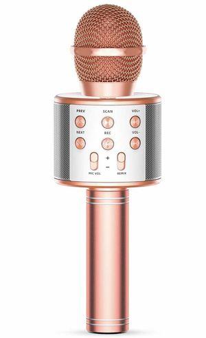 Wireless Karaoke Microphone Bluetooth, 3 in 1 Wireless Portable Handheld Mic Karaoke Machine for Christmas Home Birthday Party, Voice Disguiser Kara for Sale in Arlington, TX