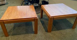 Solid oak end tables 30x30 for Sale in Spanaway, WA