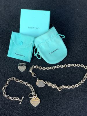Tiffany & Co matching necklace; bracelet; Ring for Sale in Anaheim, CA