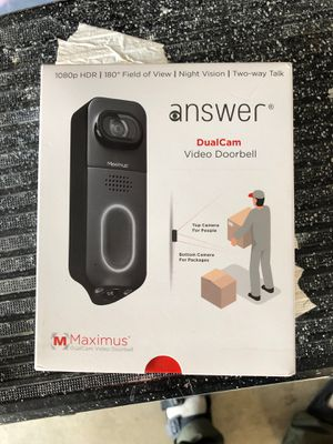 Maximus door camera video doorbell 1080 P HDR for Sale in Clovis, CA