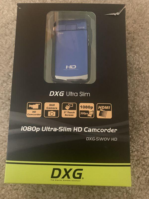 1080p HD ultra slim camcorder