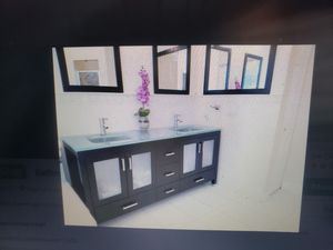 "BATHROOM DOUBLE VANITY CONTEMPORARY 60"" for Sale in Hialeah, FL"