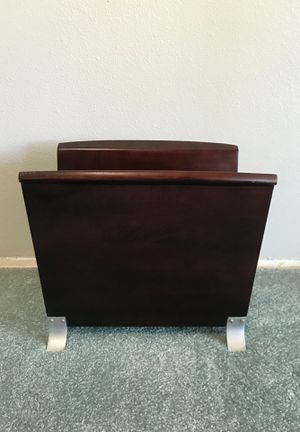 Wood Magazine Rack for Sale in Huntington Beach, CA