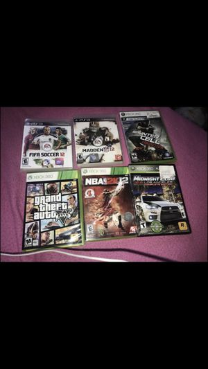 4 Xbox 360 Games and 2 PS3 Games! for Sale in Washington, DC