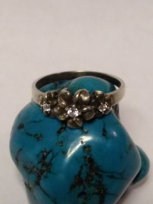 Sterling silver size 10 flower ring for Sale in Willow Street, PA