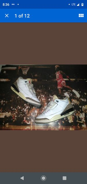 OG Air Jordan 1988 White Cement 3 Size 9 RARE!! VINTAGE With Box for Sale in San Francisco, CA