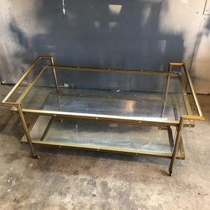 Modern Gold & Glass coffee Table for Sale in Portland, OR