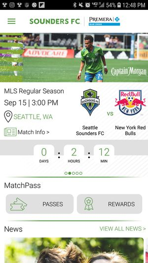 4 front row tickets. Seattle Sounders vs New York red bulls for Sale in Auburn, WA