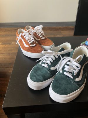 Off the wall suede vans with scotch gaurd sz 9.5 for Sale in Dallas, TX
