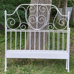 Ikea LEIRVIK Queen Size Metal Bed Headboard And Footboard No Rails for Sale in Chapel Hill, NC
