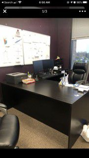 L Shape Office Desk for Sale in Huntington Beach, CA