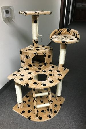 New in box 48 inches tall 19x19 inch base cat tree play post pet furniture kitten kitty scratcher scratching post for Sale in Pico Rivera, CA