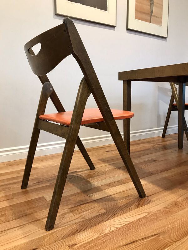 Mid Century Modern Coronet Folding Furniture Table And