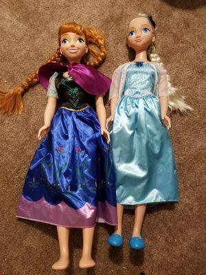 Giant Anna & Elsa dolls for Sale in Milford, DE