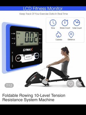 Fitness Foldable Magnetic Rowing Machine w/ 10-Level Tension Resistance System for Sale in Bakersfield, CA
