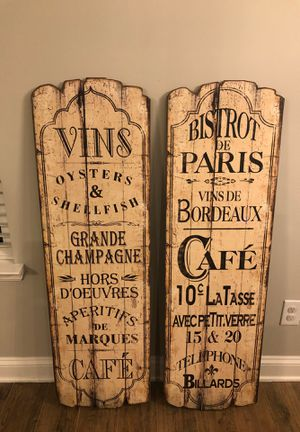 Decorative French Bistro/Cafe Boards for Sale in Nolensville, TN