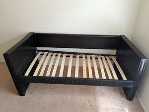 Leather Bed Frame - Twin for Sale in Sun Lakes, AZ