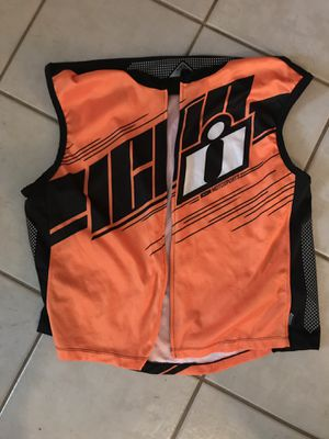 Icon reflective hi viz motorcycle vest for Sale in Vancouver, WA