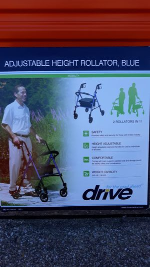 2328a9648 Drive Medical Adjustable Height Rollator with 6 Inches Wheels for Sale in  Plano, TX