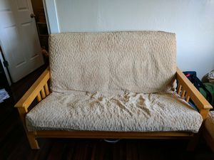 Futon with double mattress and ottoman for Sale in Denver, CO