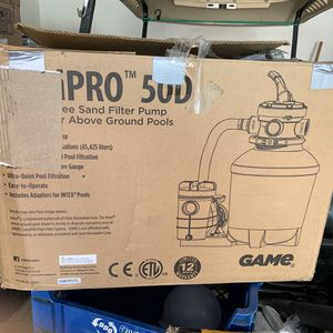 Sandpro above ground pool sand filter new for Sale in Las Vegas, NV
